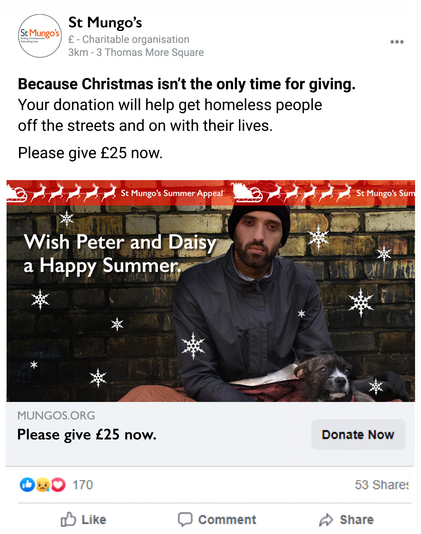 New St Mungo's campaign from Parkhouse tackles Christmas in July